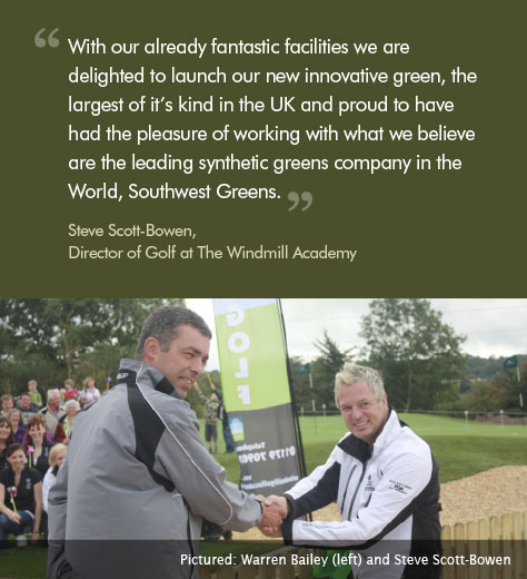 With our already fantastic facilities we are delighted to launch our new innovative green, the largest of it's kind in the UK and proud to have had the pleasure of working with what we believe are the leading synthetic greens company in the World, Southwest Greens.